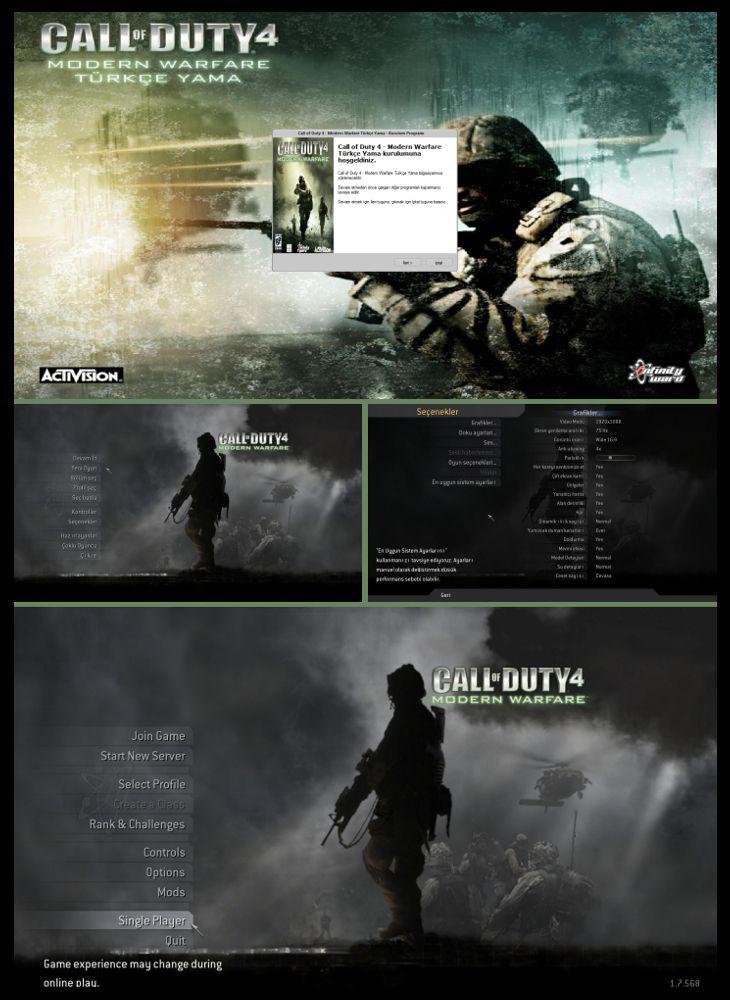 Call of Duty 4 Modern Warfare Türkçe Yama