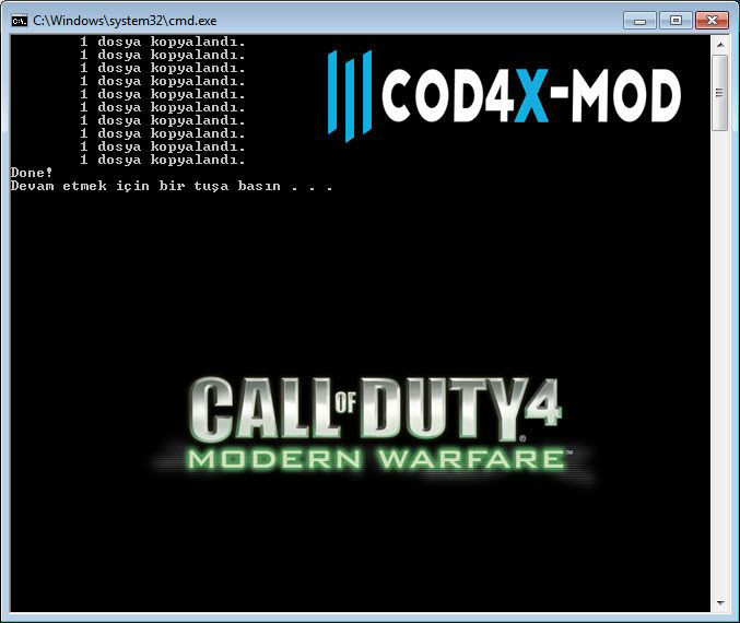 Call of Duty 4 CoD4X Mod Kurulumu