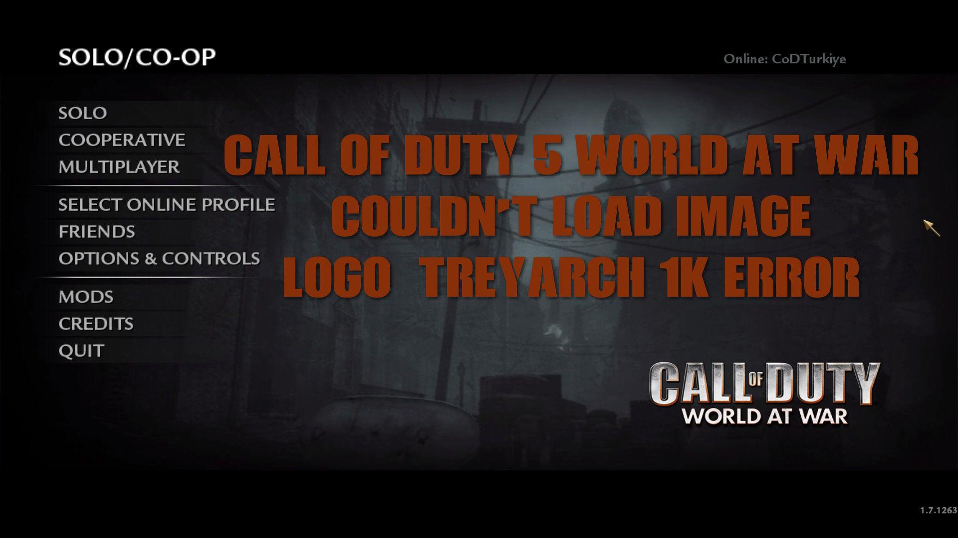 Call of Duty 5 World At War Couldnt Load Image logo_treyarch_1k Error