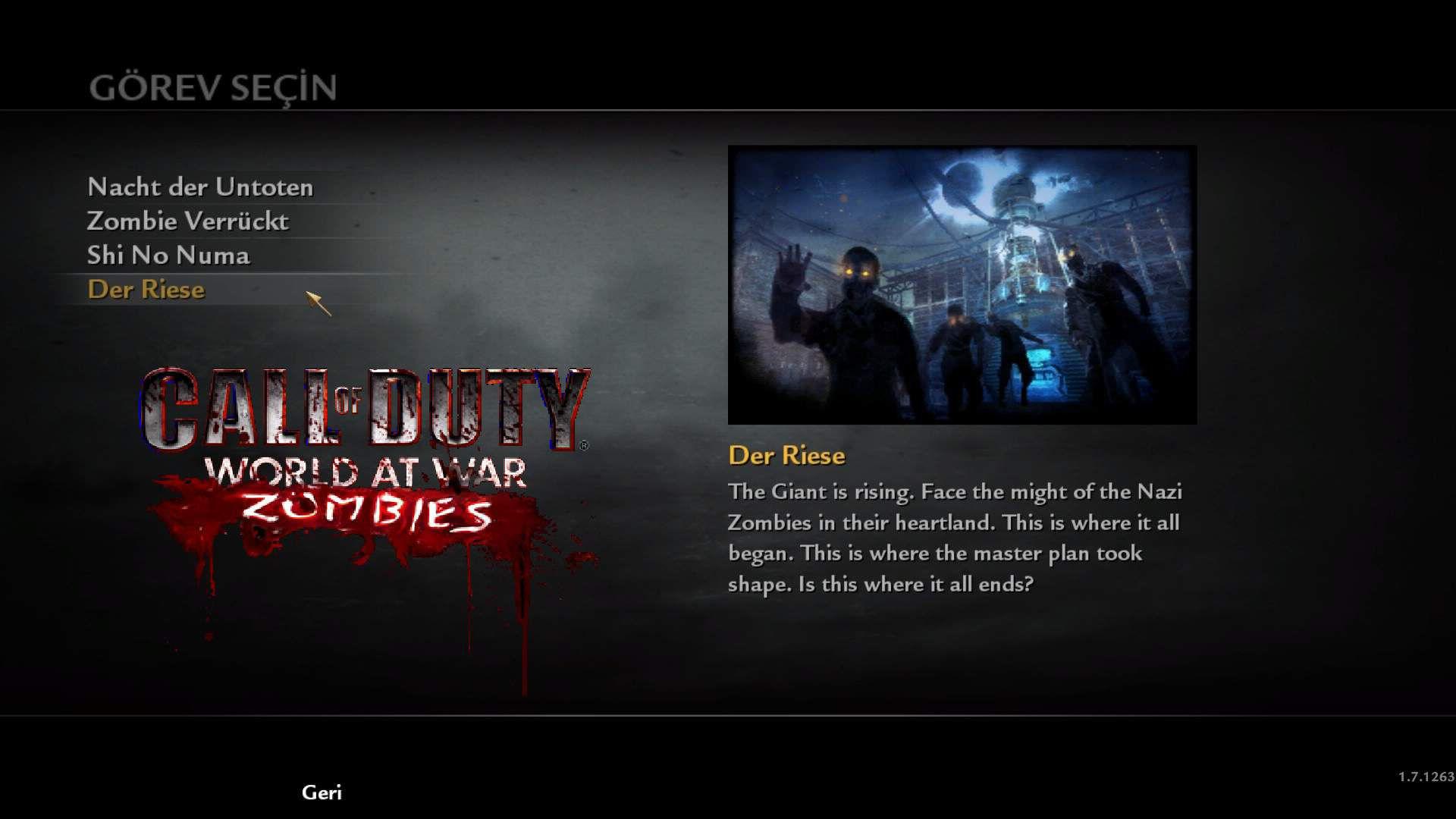 Call of Duty 5 World at War Official Zombie Haritaları