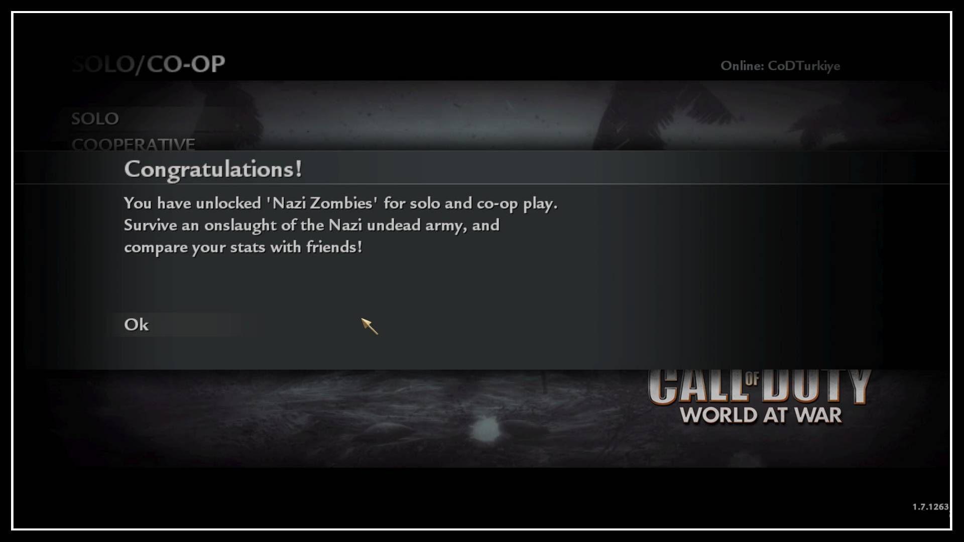 Call of Duty 5 WaW Co-Op Unlock Nazi Zombies