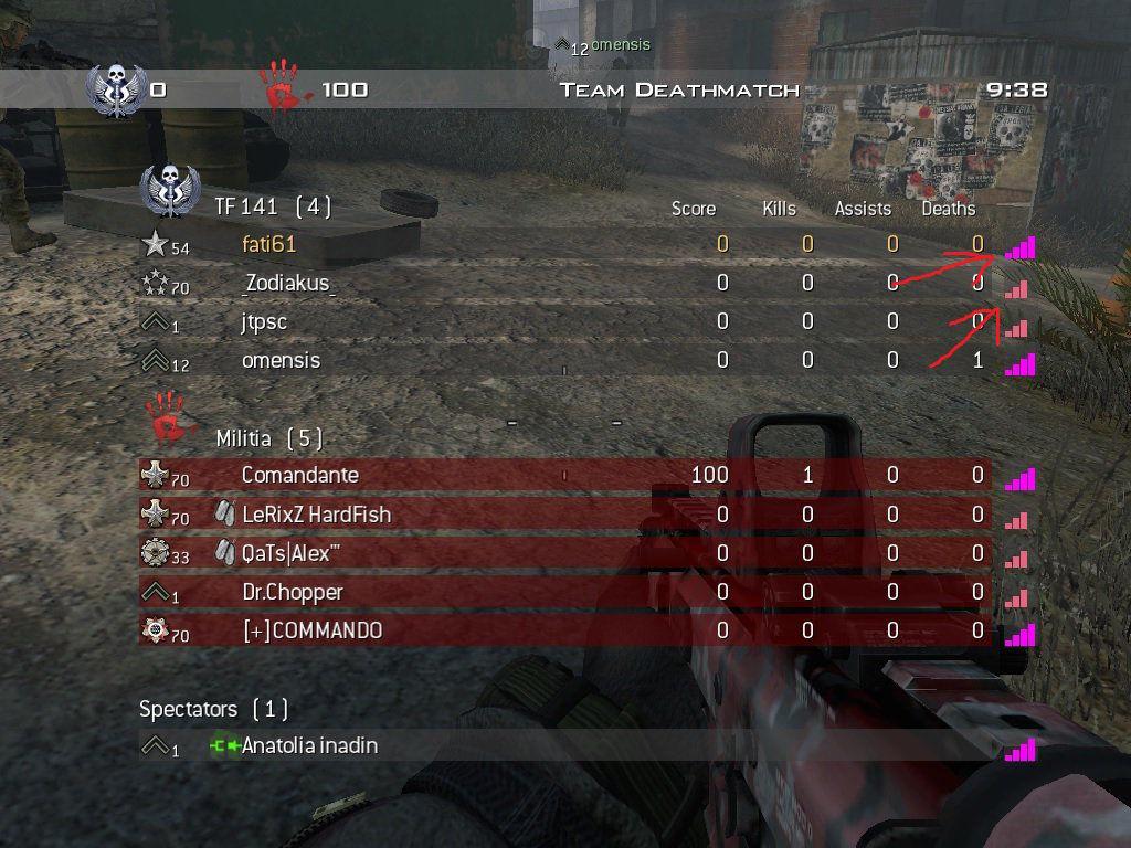 Call of Duty 6 MW2 Ping Indicator Pembe Oldu