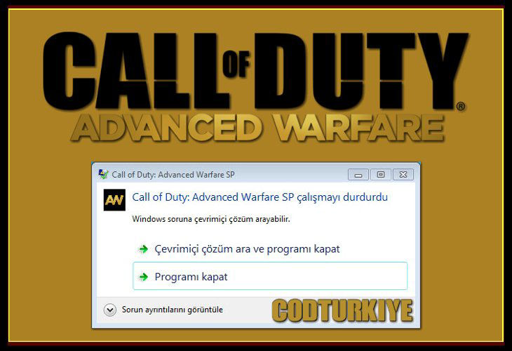 Call of Duty Advanced Warfare Has Stopped Working Error