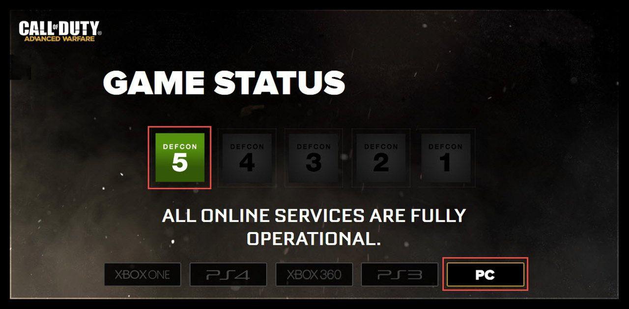 Call of Duty Advanced Warfare No Games Found Hatası