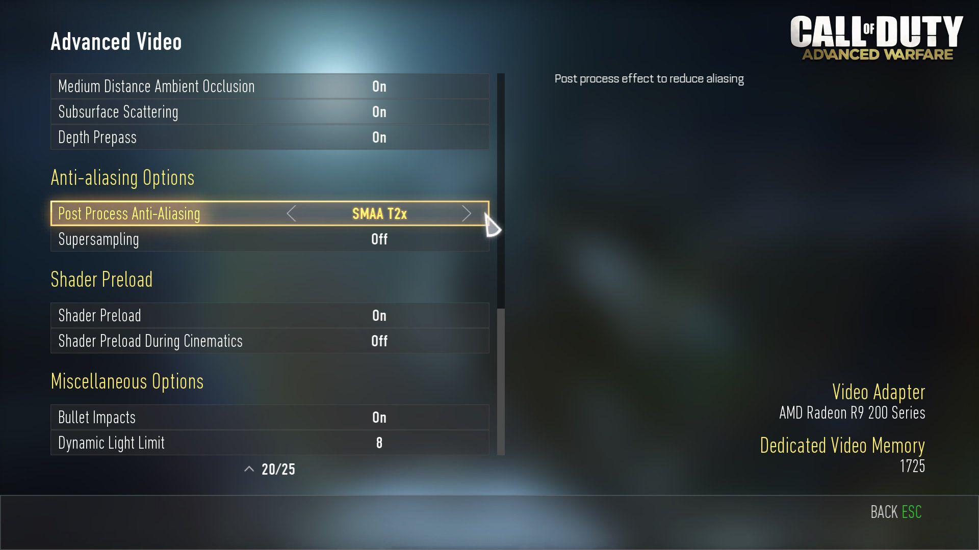 Call of Duty Advanced Warfare Optimal Video Ayarları