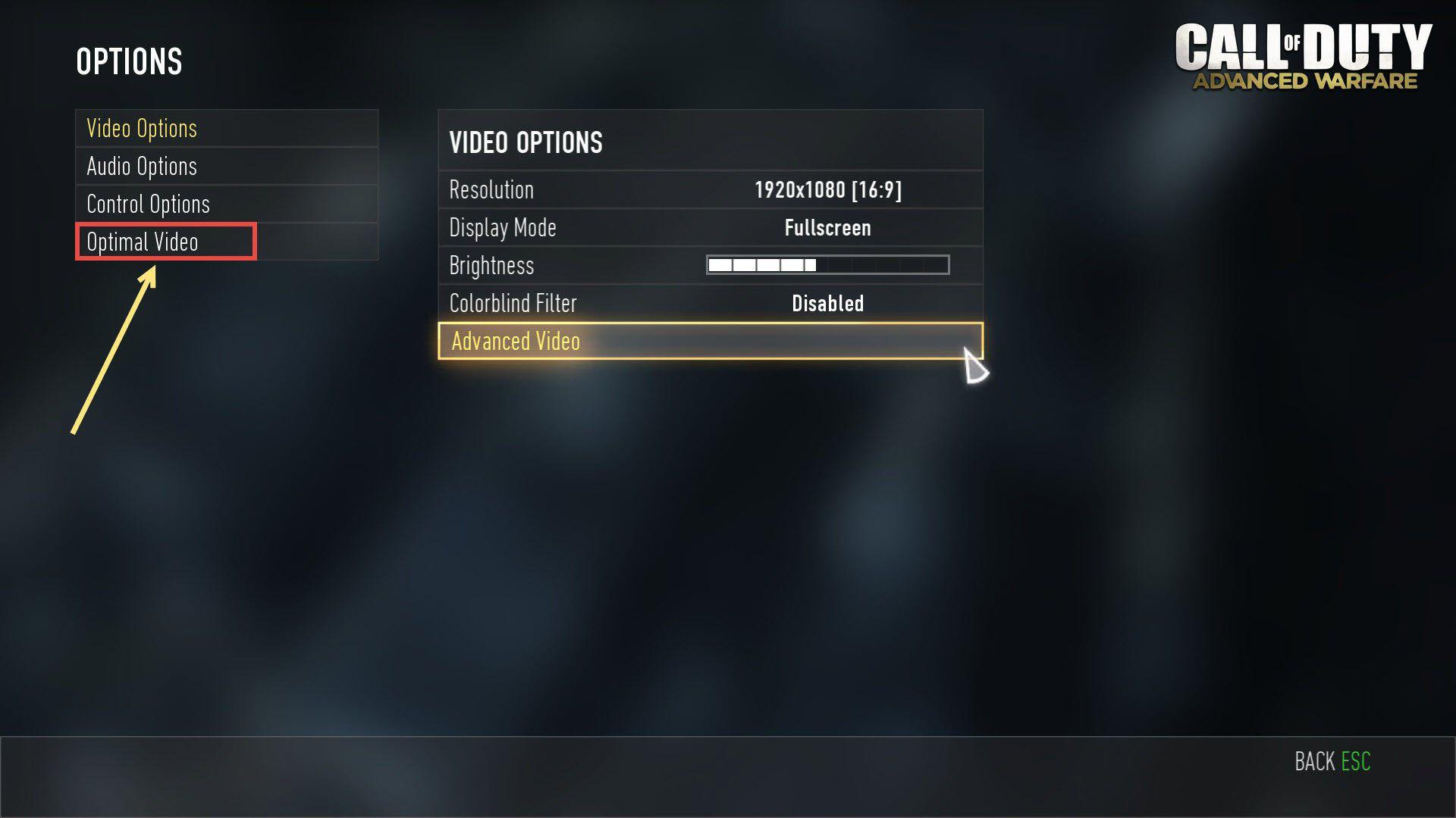 Call of Duty Advanced Warfare Optimal Video Settings