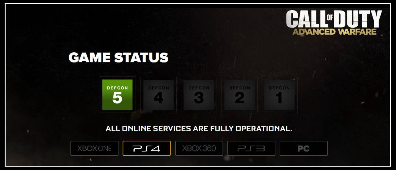 Call of Duty Advanced Warfare Playstation 4 Online Error