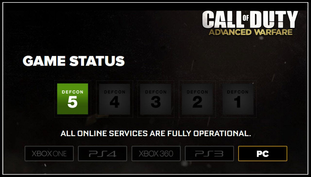 Call of Duty Advanced Warfare Service is Not Available at This Time Hatası