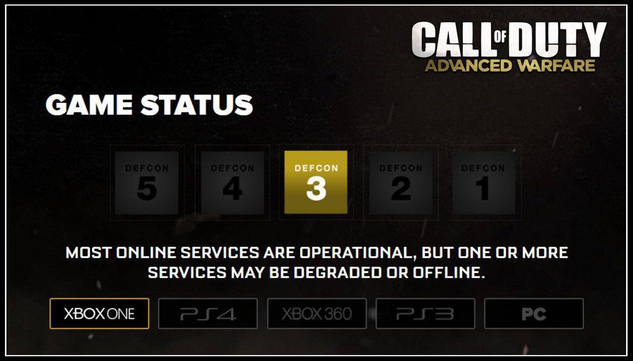Call of Duty Advanced Warfare Server Status