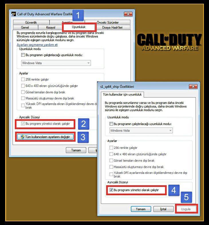Call of Duty Advanced Warfare Uygulama Düzgün Olarak Başlatılamadı Hatası
