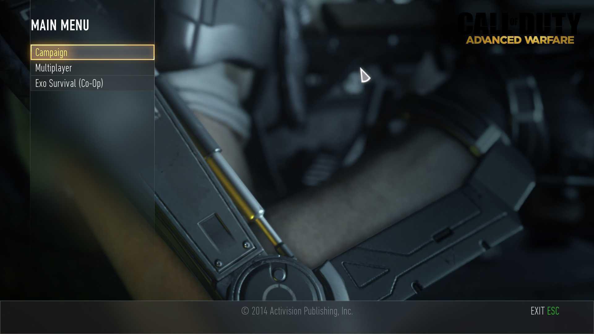 Call of Duty Advanced Warfare Zorluk Derecesini Yükseltmek
