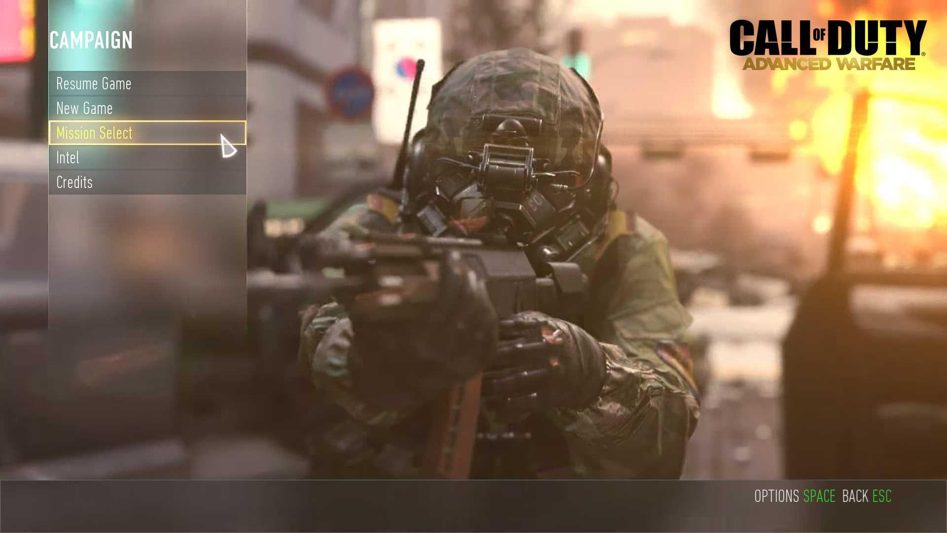 Call of Duty Advanced Warfare Zorluk Derecesi Yükseltmek
