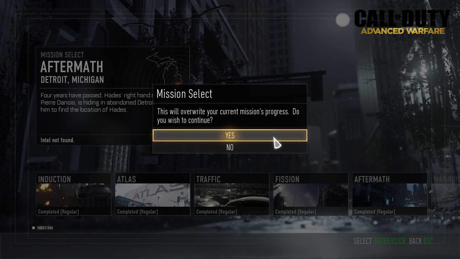 Call of Duty Advanced Warfare Zorluk Derecesi Değiştirmek