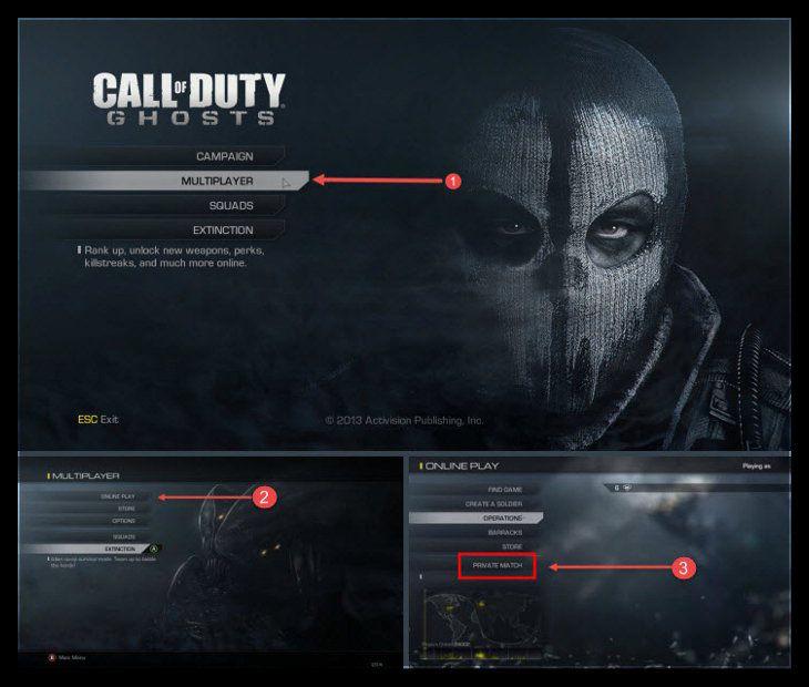 Call of Duty Ghosts Private Match Oynamak