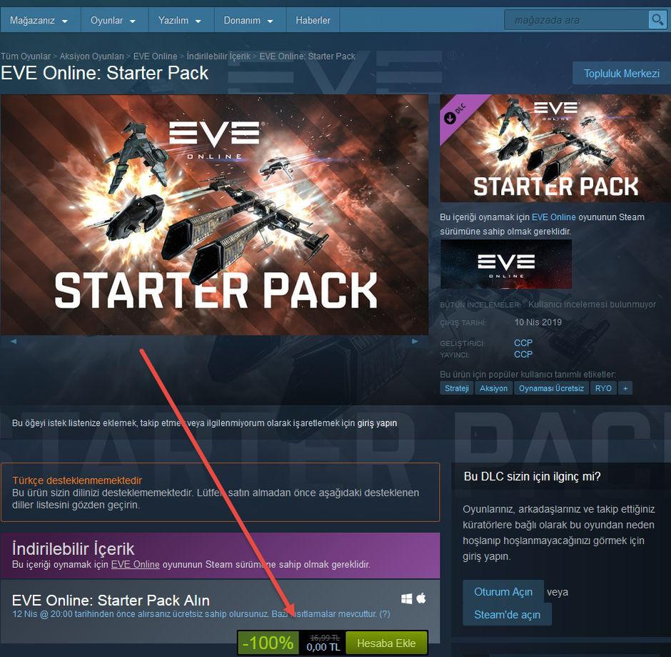 EVE Online: Starter Pack Free Kampanya