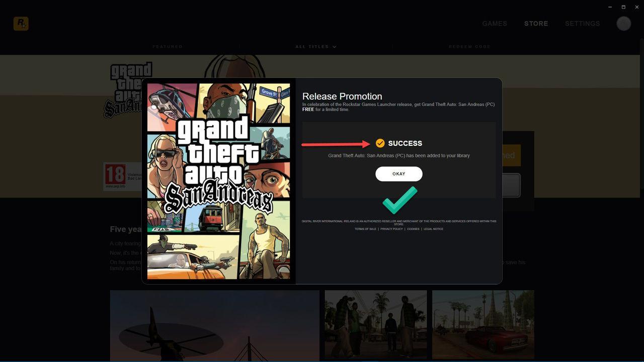 Grand Theft Auto: San Andreas Free Kampanya