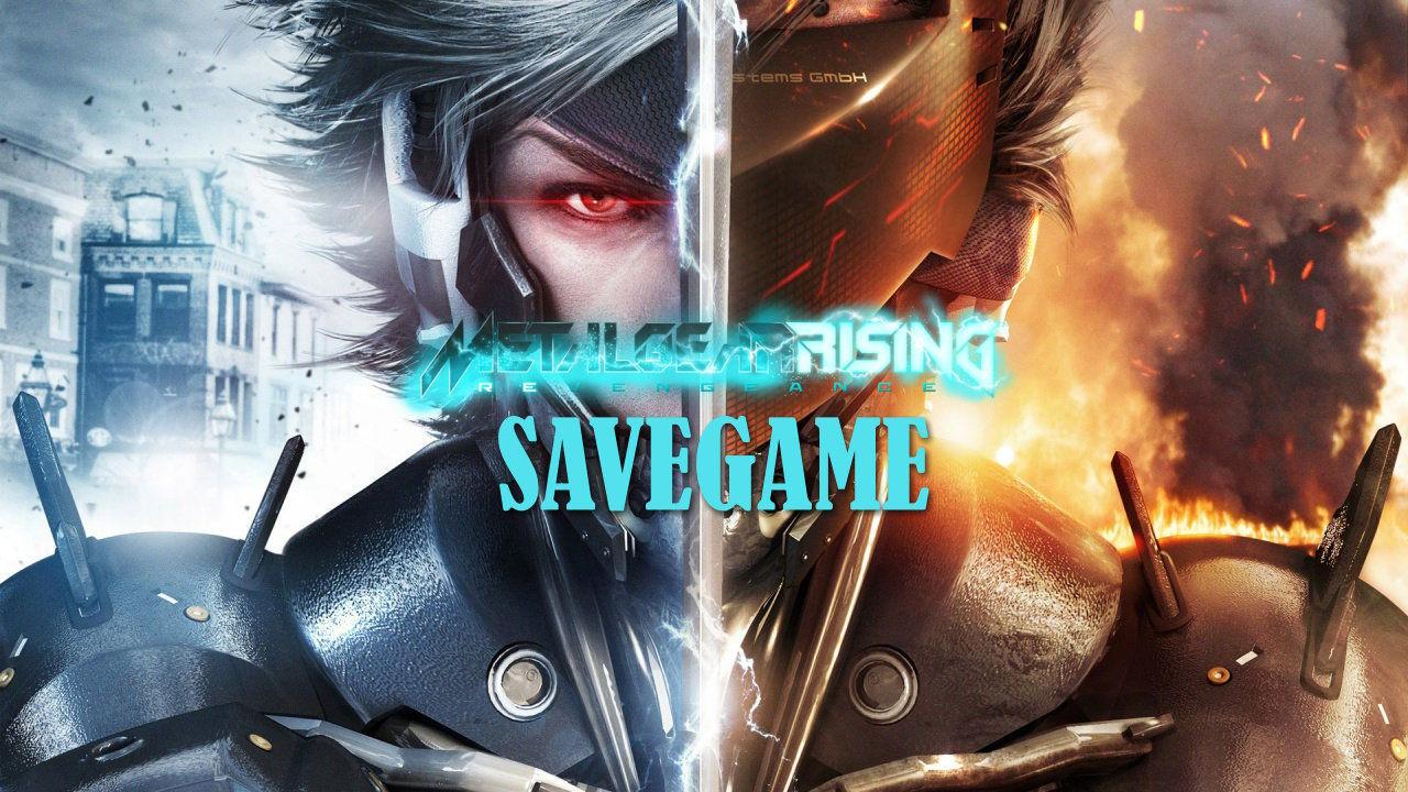 Metal Gear Rising Revengeance Save Game Dosyası