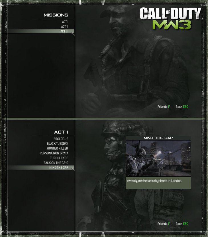 Modern Warfare 3 Save Game Dosyası indir