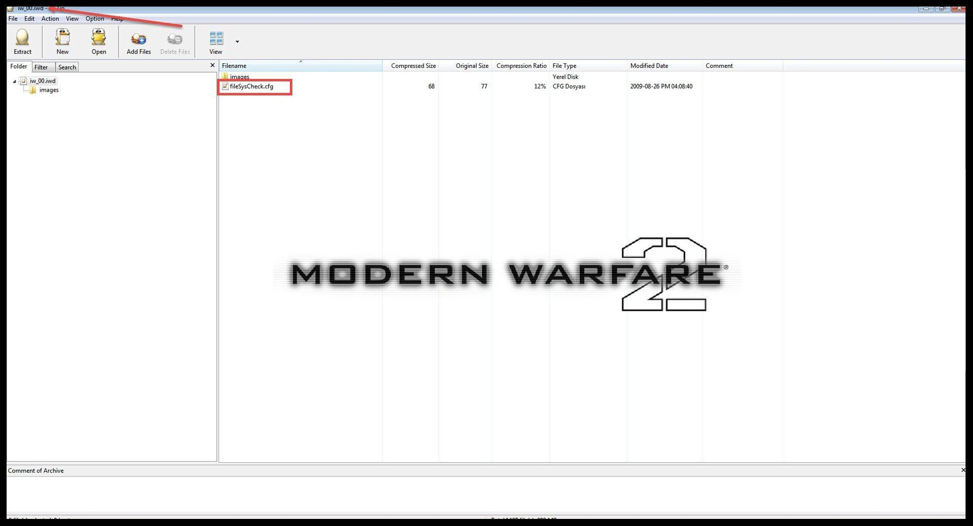 Modern Warfare 2 Couldn't Load fileSysCheck.cfg Hatası