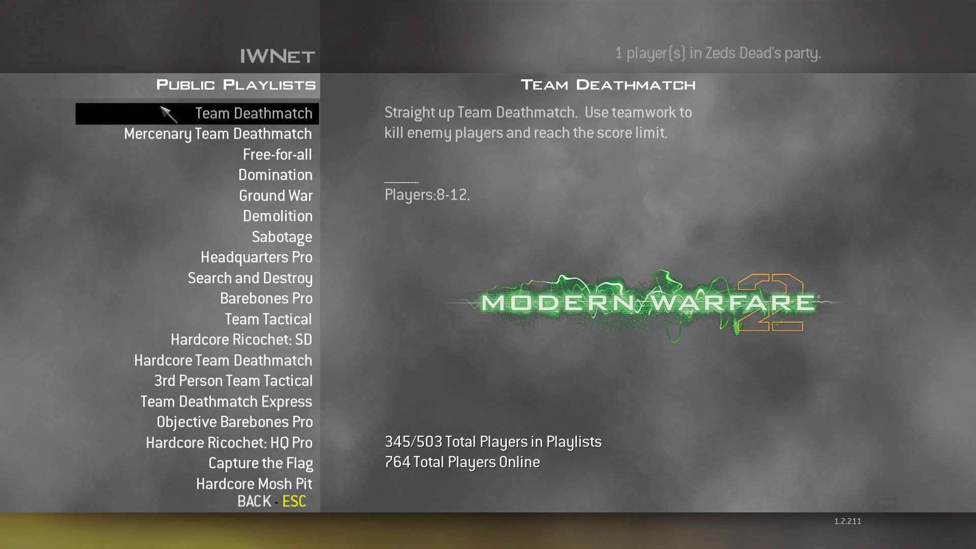 Modern Warfare 2 TDM Sunucu Bulma Sorunu