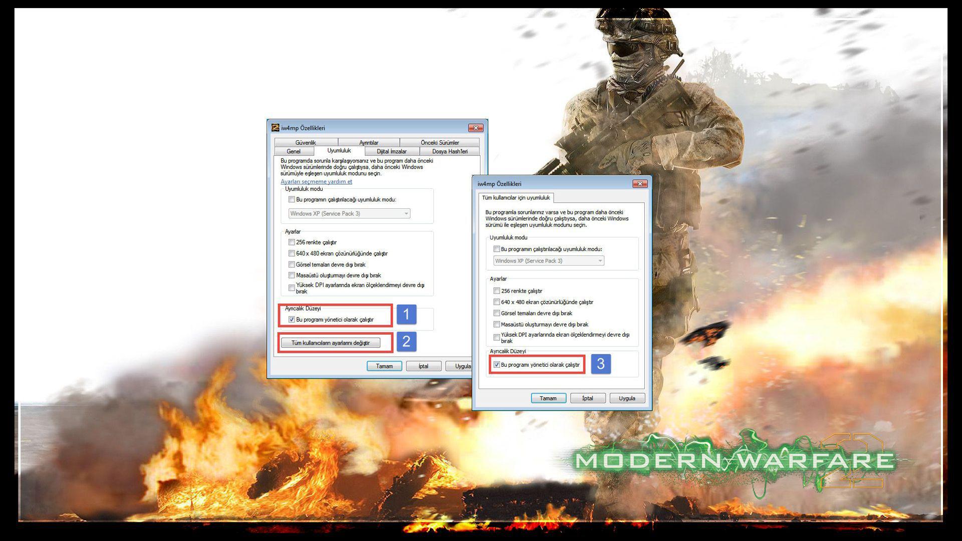 Modern Warfare 2 iw4mp.exe Çalışmayı Durdurdu Hatası