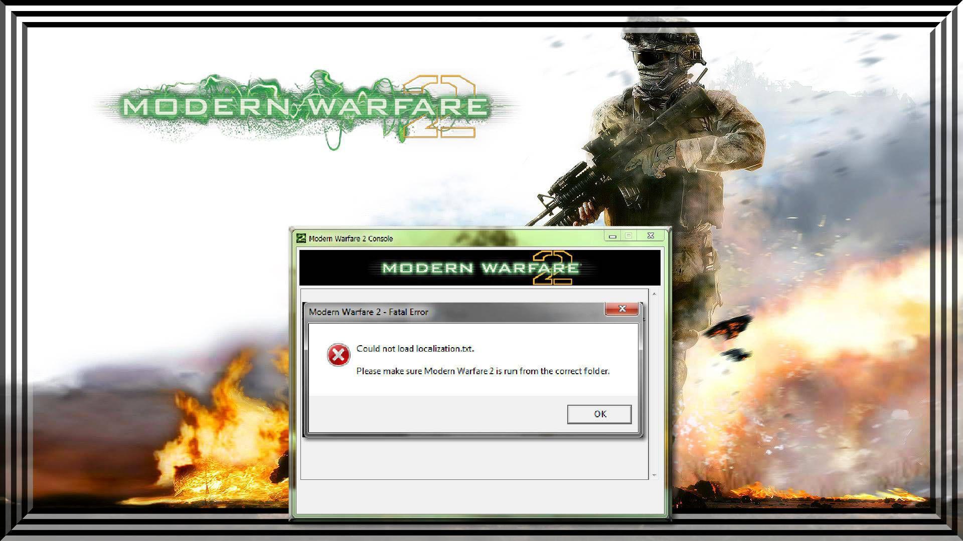 Modern Warfare 2 Could Not Load Localization txt Hatası – Call of