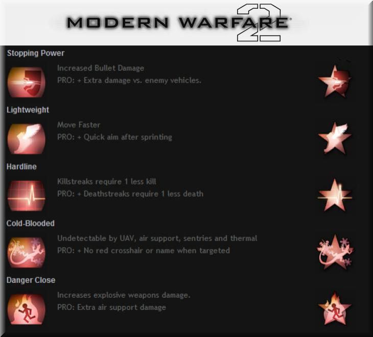 Call of Duty 6 Modern Warfare 2 Perkleri Slot 2