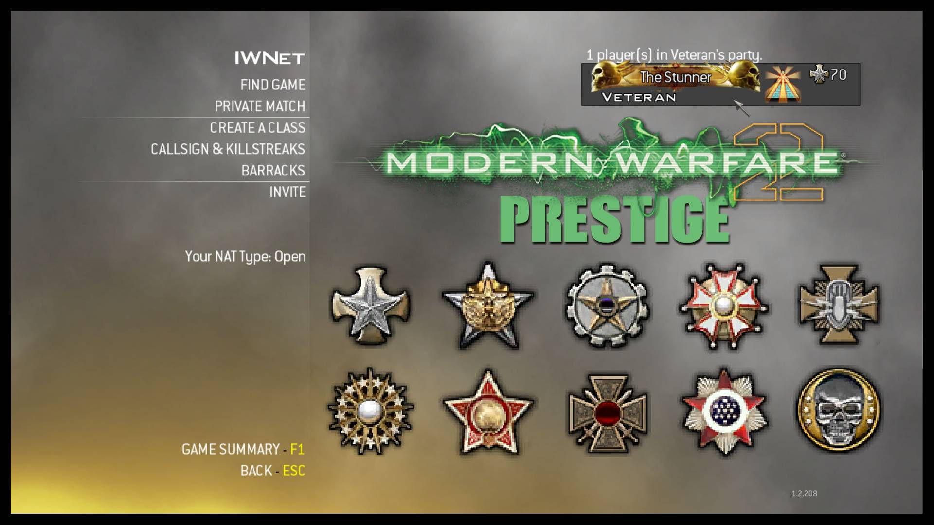 Modern Warfare 2 Prestige Mod Amblem