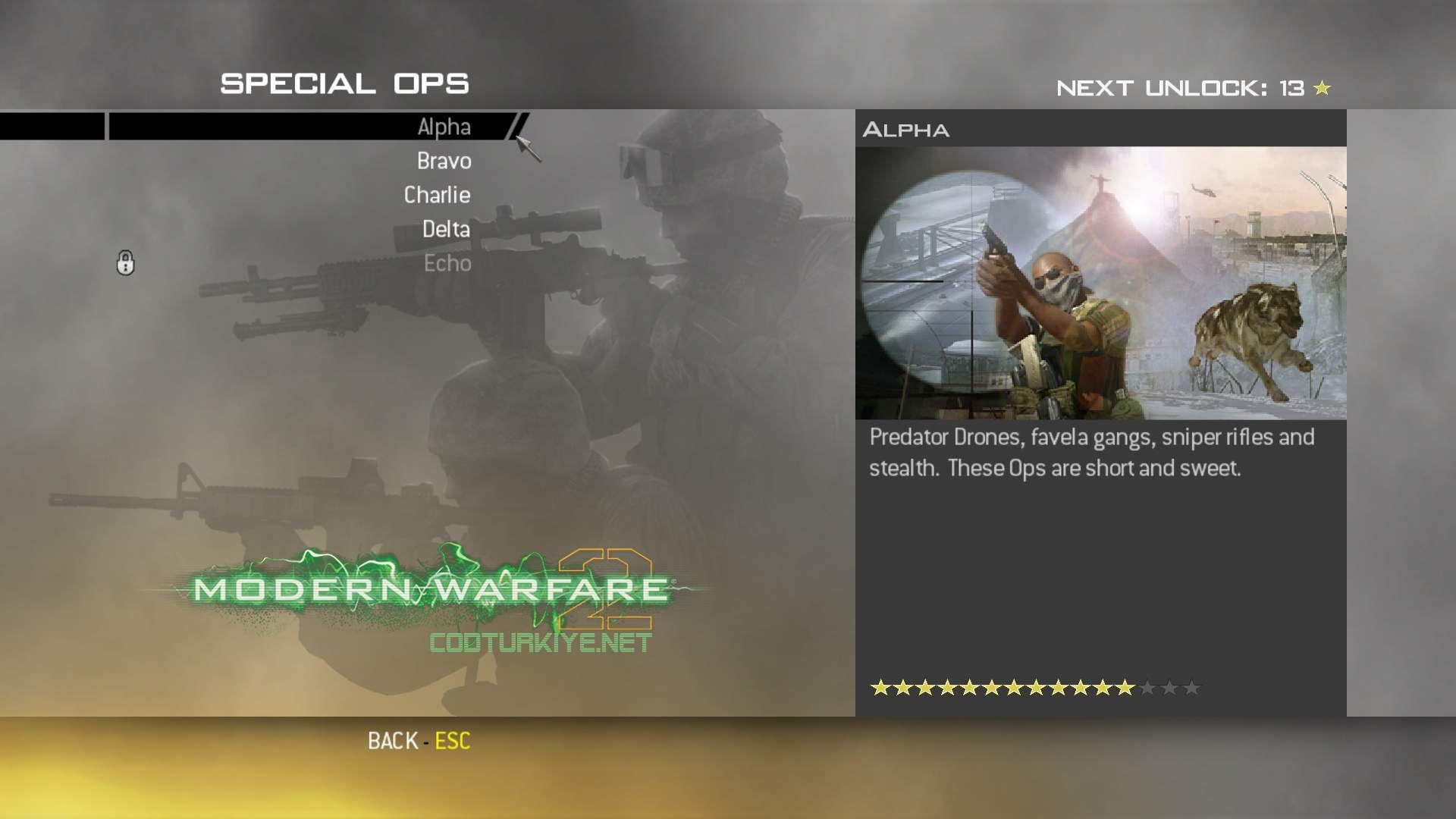 Call of Duty Modern Warfare 2 Special Ops Alpha Görevleri