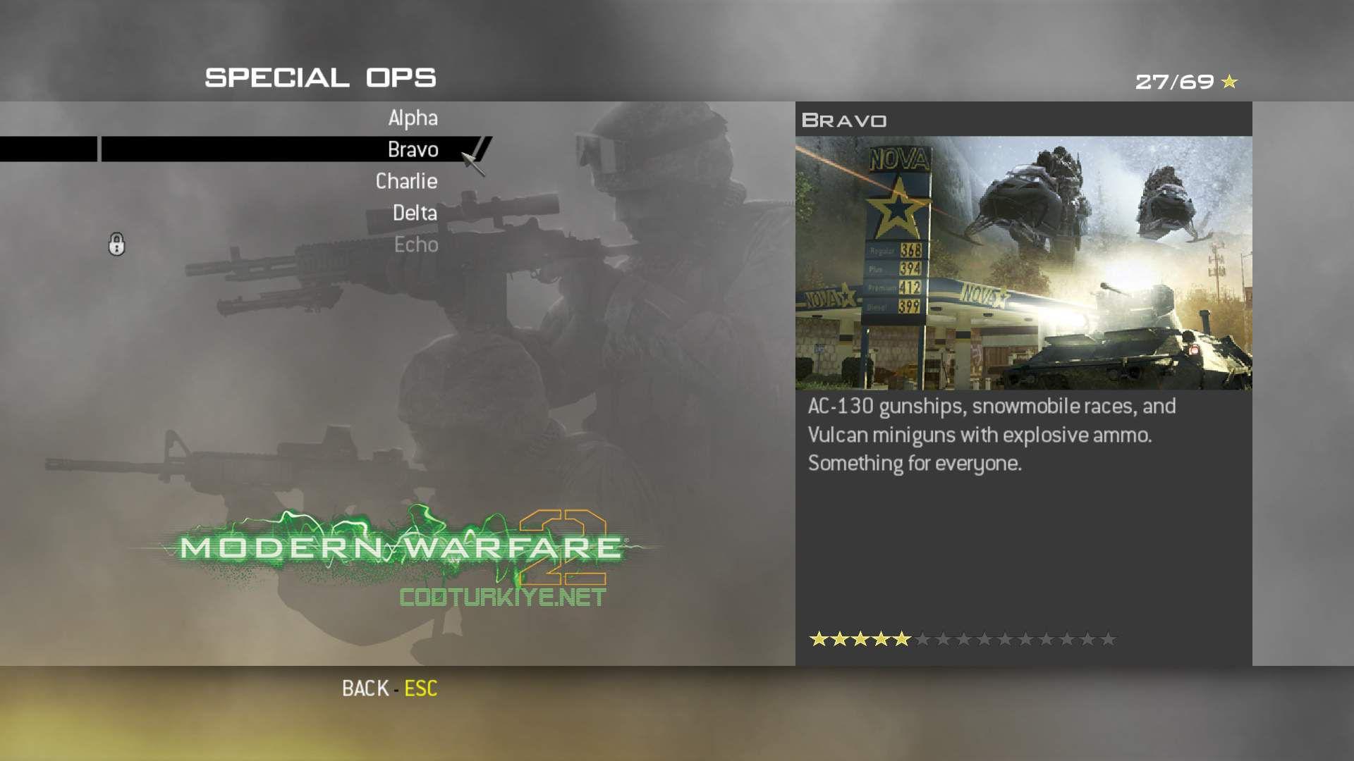 Call of Duty Modern Warfare 2 Special Ops Bravo Görevleri