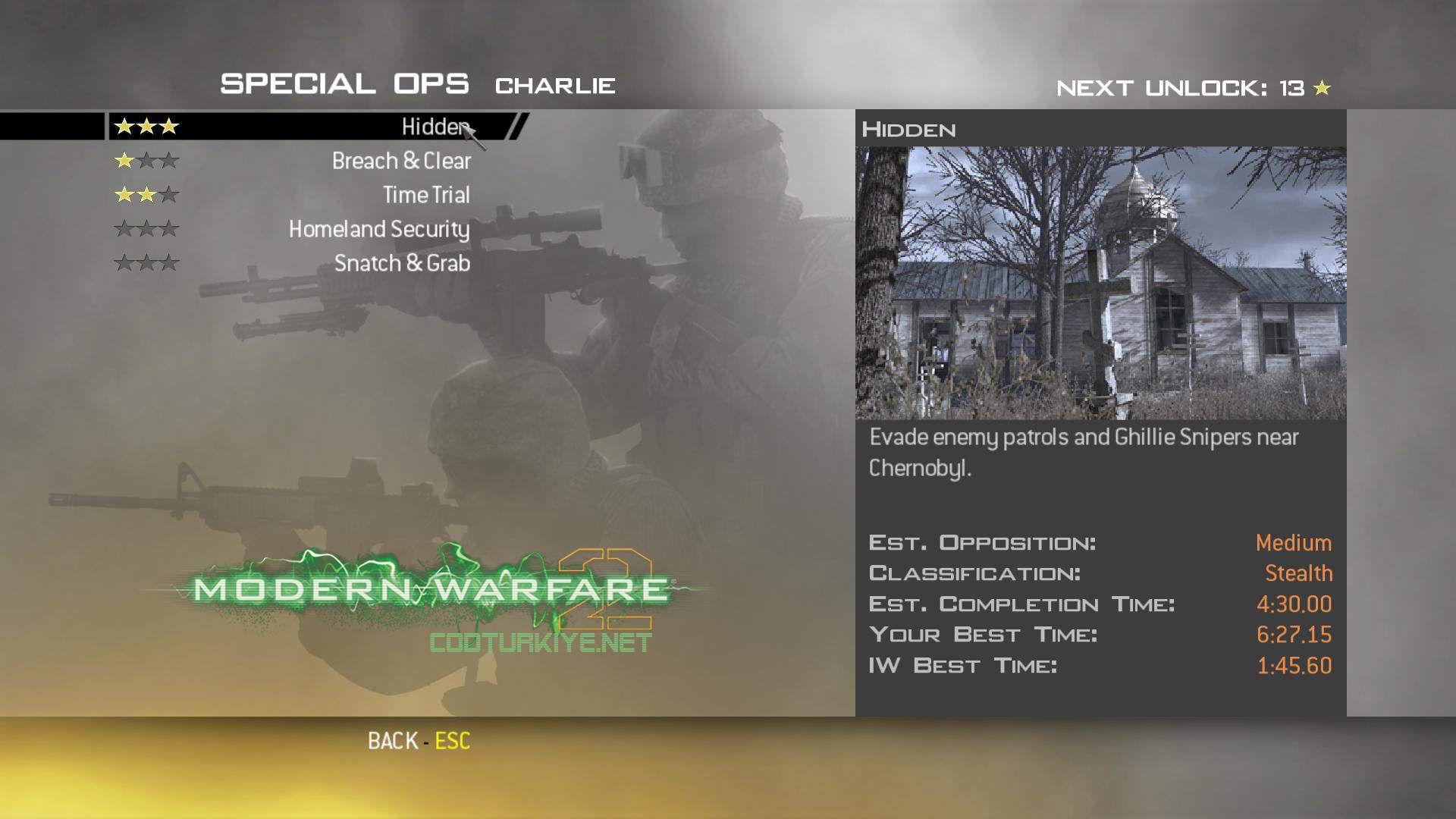 Call of Duty Modern Warfare 2 Special Ops Charlie Hidden Görevi
