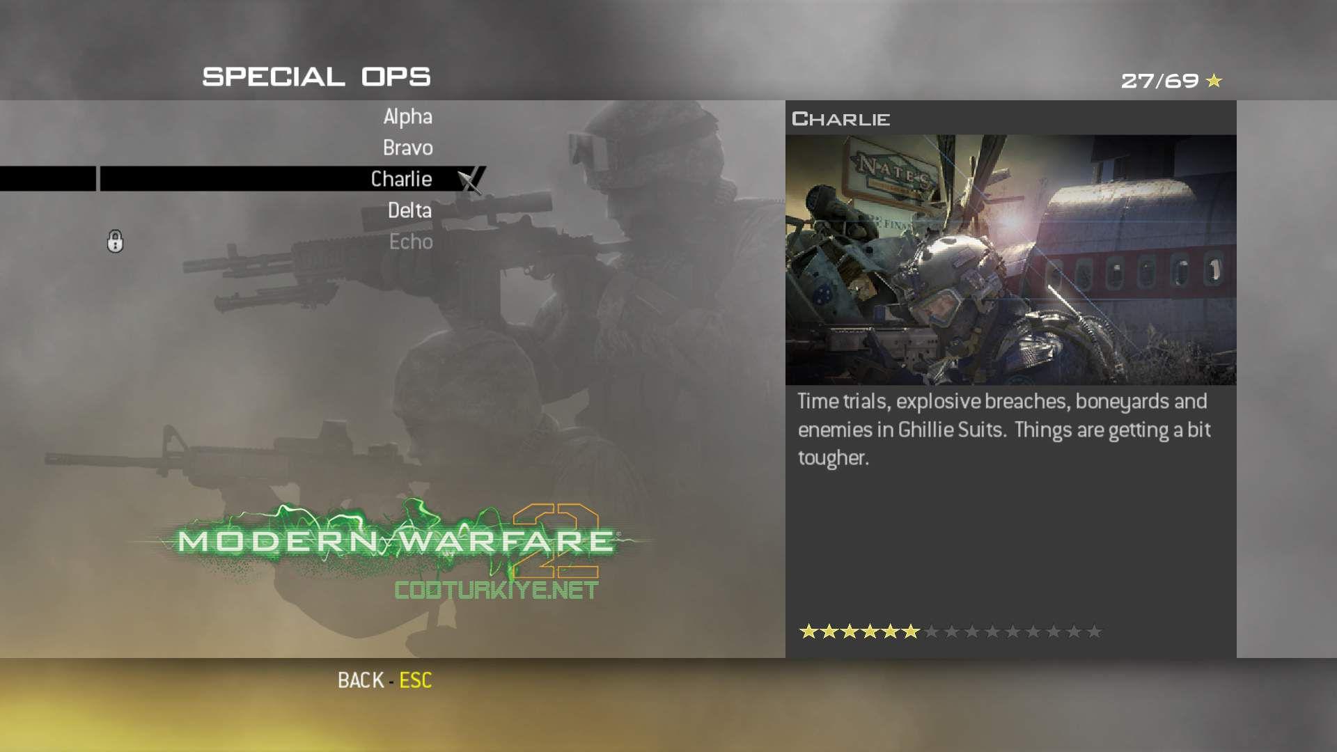 Call of Duty Modern Warfare 2 Special Ops Charlie Görevleri