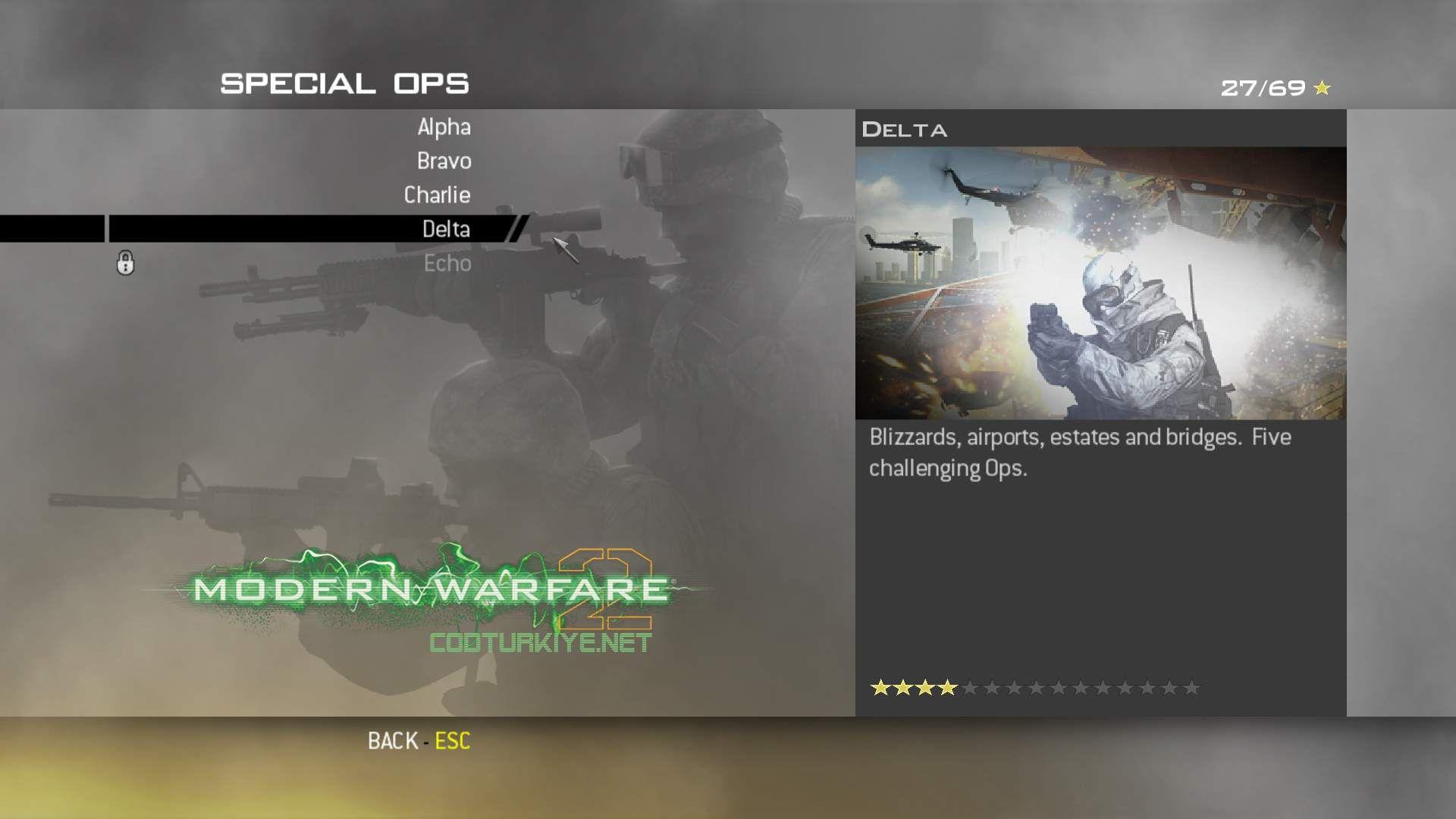 Call of Duty Modern Warfare 2 Special Ops Delta Görevleri