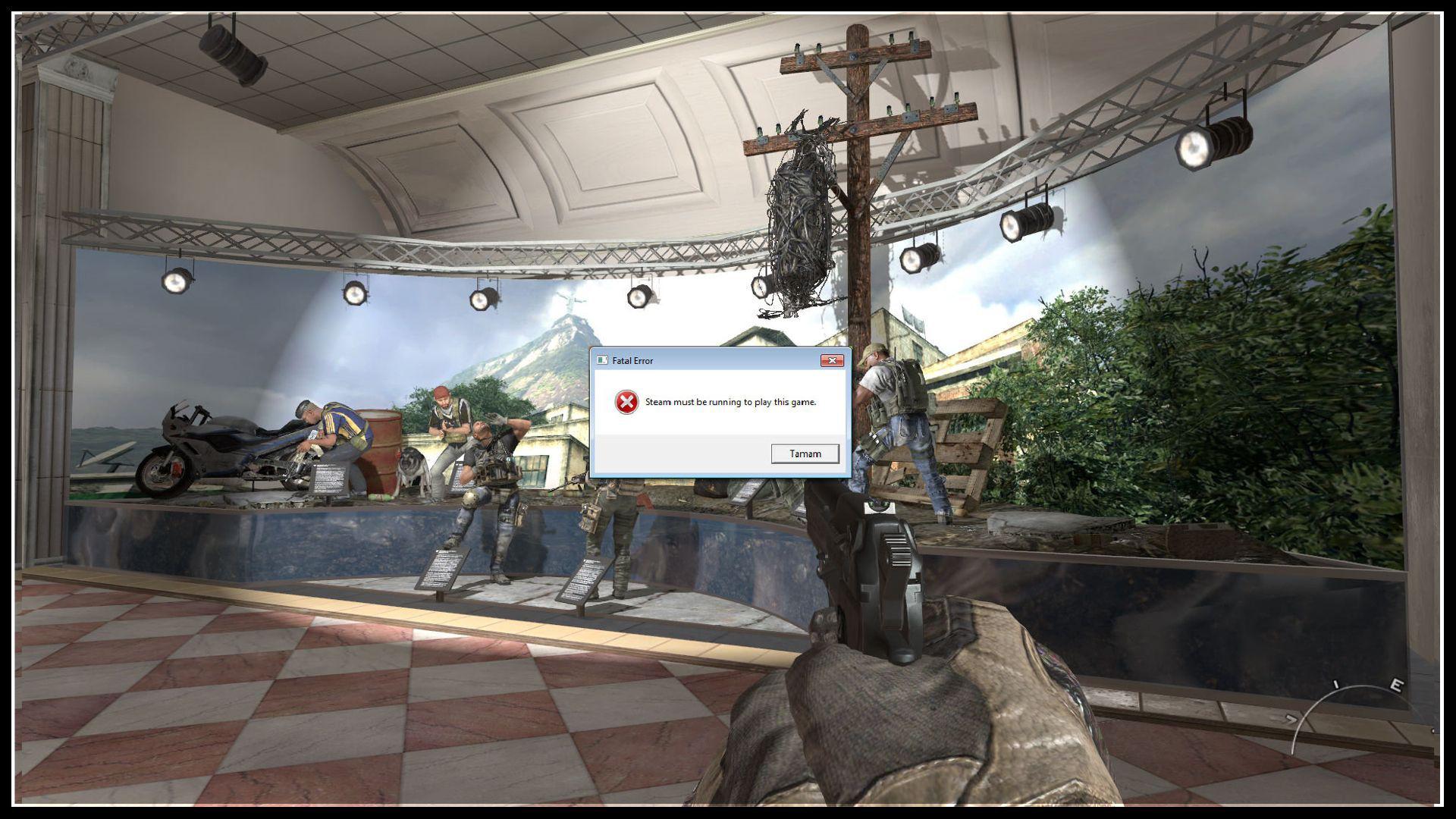 Modern Warfare 2 Steam Must Be Running to Play This Game Error