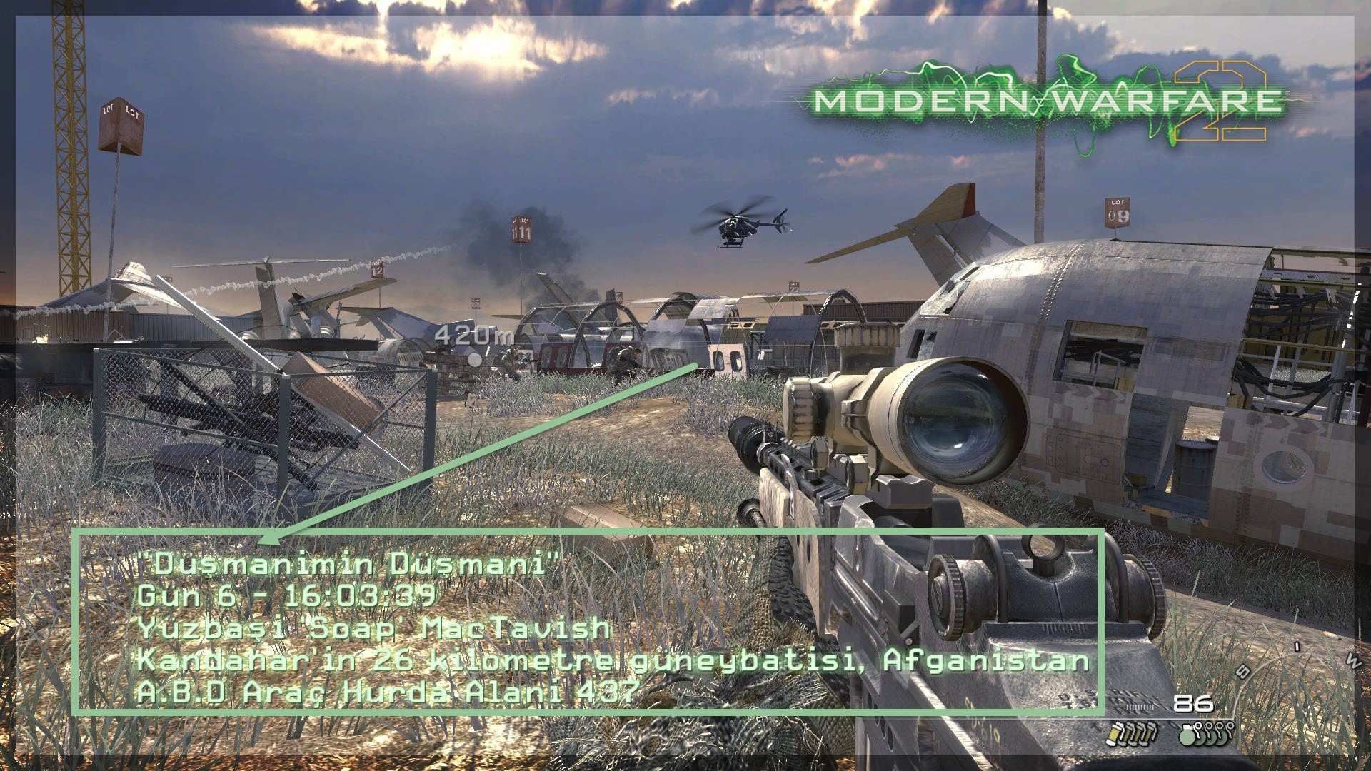 Modern Warfare 2 Türkçe Yama Oyuniçi Alt Yazılar