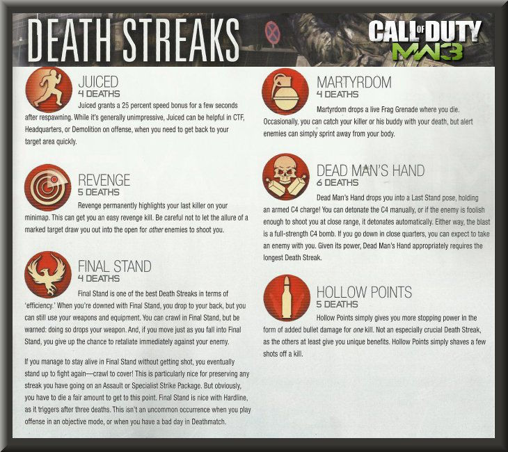 Call of Duty 8 Modern Warfare 3 Killstreaks Support