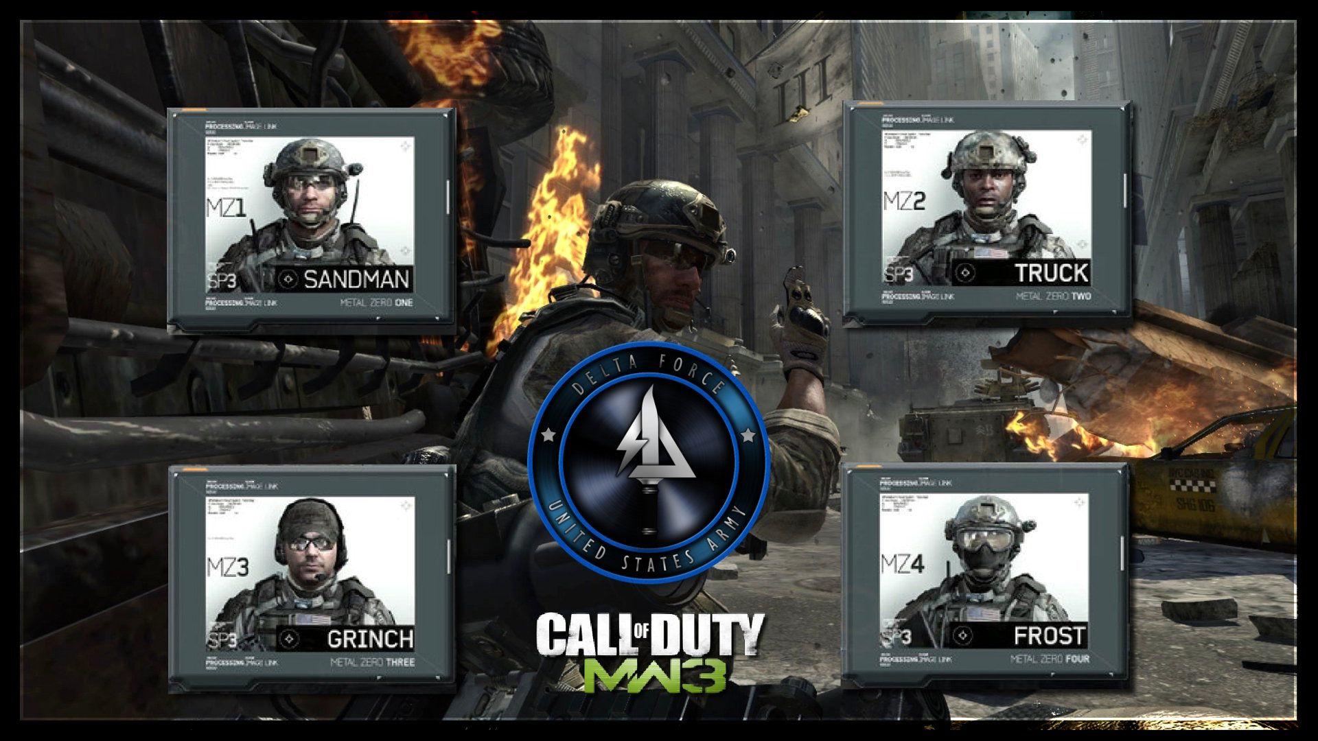 Modern Warfare 3 Karakterleri Sandman, Truck, Grinch, Frost