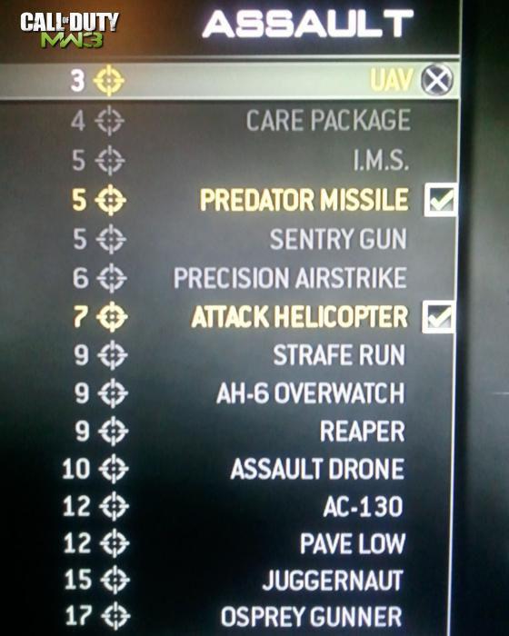 Call of Duty 8 Modern Warfare 3 Killstreak Assault