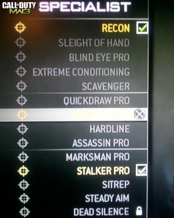 Call of Duty 8 Modern Warfare 3 Killstreak Specialist