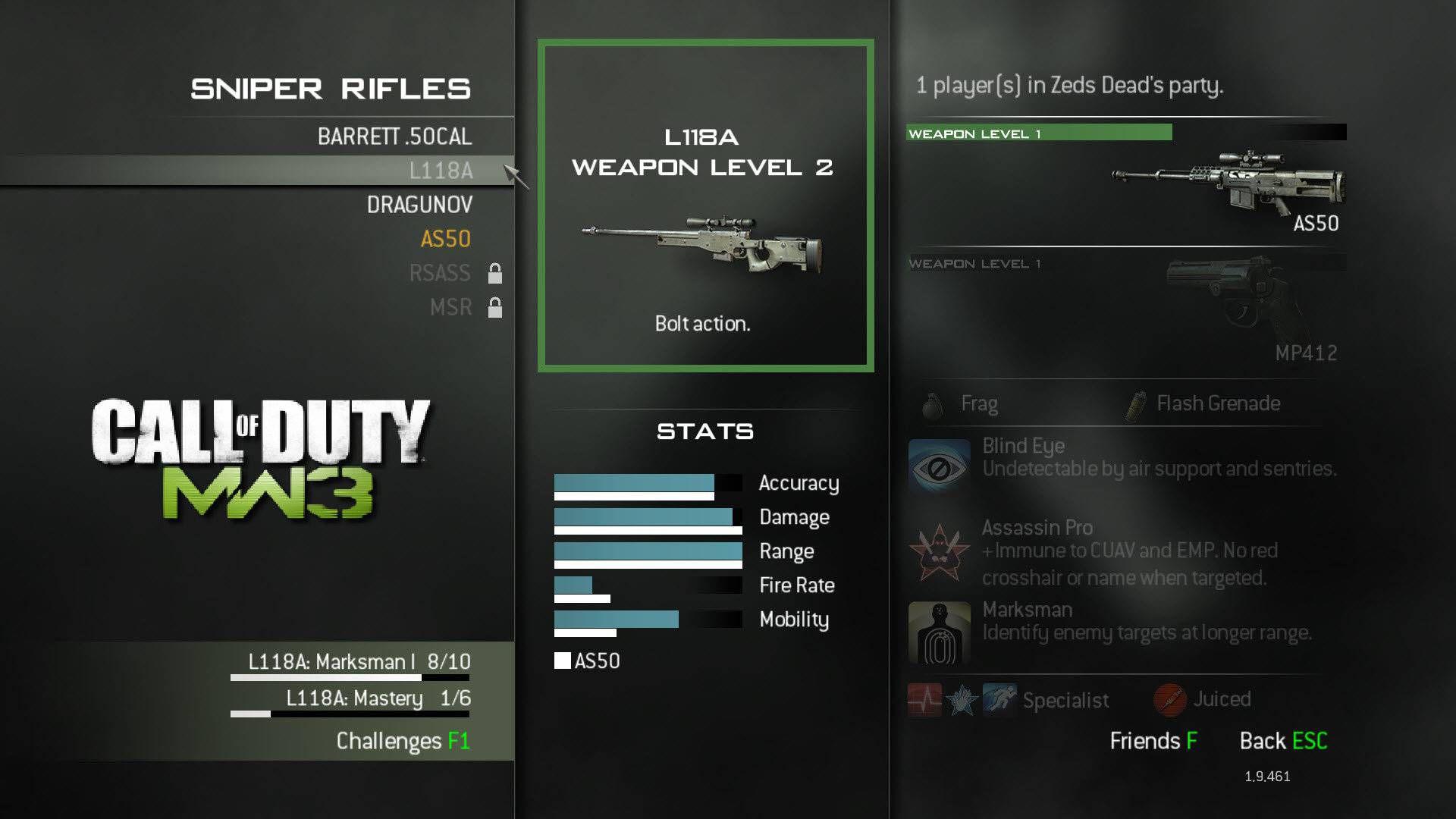 Modern Warfare 3 Sniper Weapon L118A