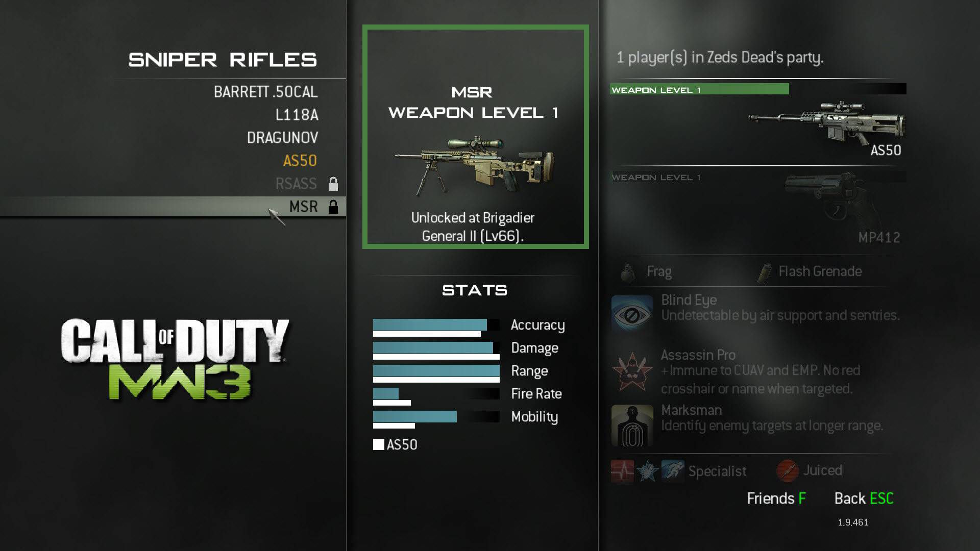 Modern Warfare 3 Sniper Weapon MSR