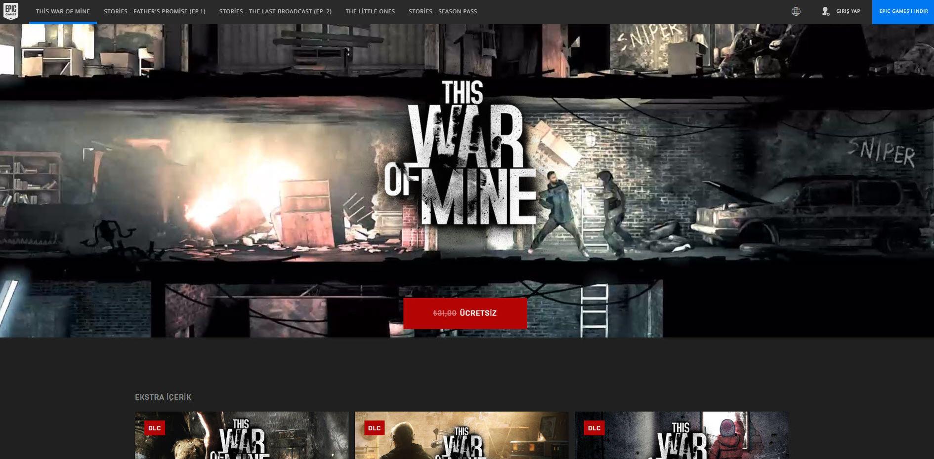 This War of Mine Free Kampanya