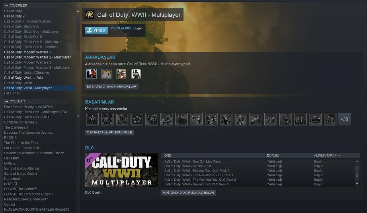 Call of Duty World War II Digital Deluxe Edition Steam Ekran Görüntüsü