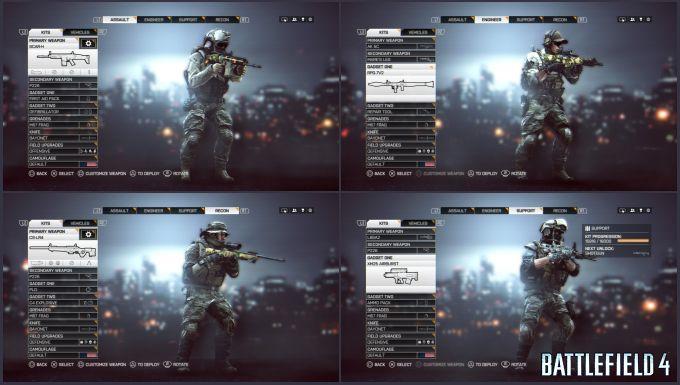 Battlefield 4 Oyuncu Sınıfları