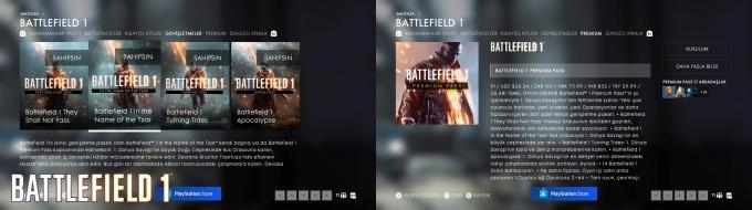 Battlefield 1 Mağaza