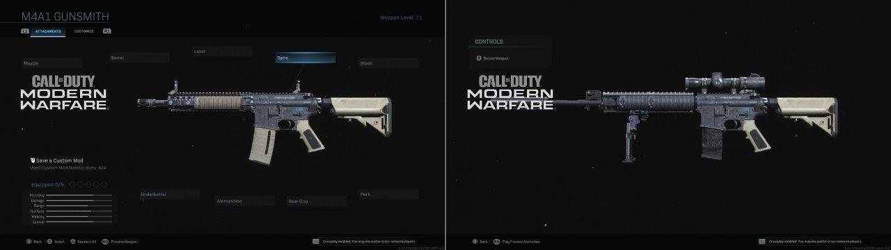 Call of Duty Modern Warfare 2019 Silahlar M4A1 ve M4A1'den çevirilmiş M110SSAS