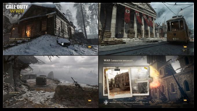 Call of Duty World War II Haritalar