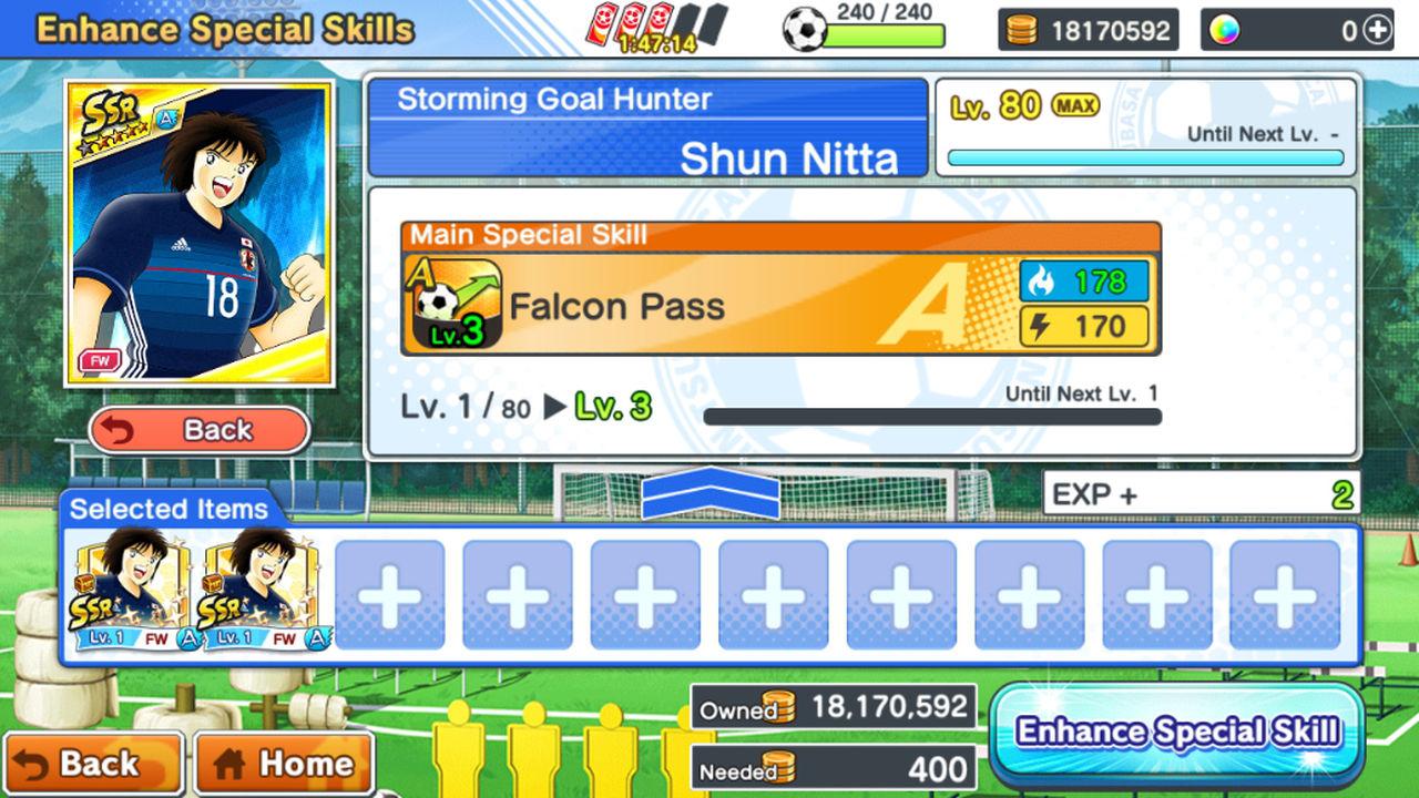 Captain Tsubasa: Dream Team Yetenek Güçlendirme (Enhance Skills)