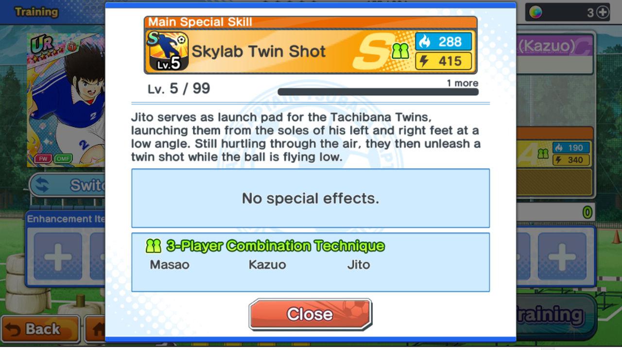Captain Tsubasa: Dream Team Yetenekler ve Kaliteleri