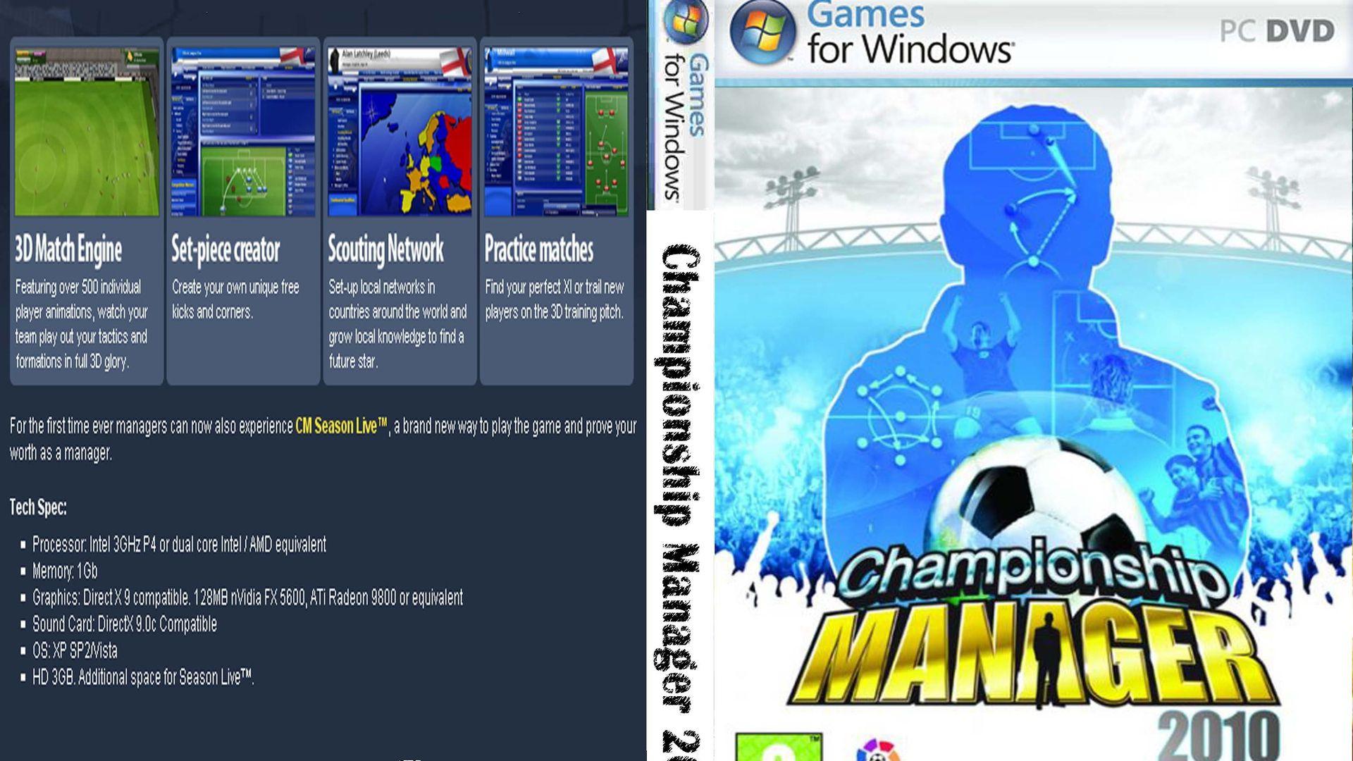 Championship Manager 2010 Sistem Gereksinimleri